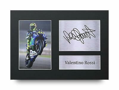 Valentino Rossi Signed Pre Printed Autograph Photo Gift For a MotoGP Fan