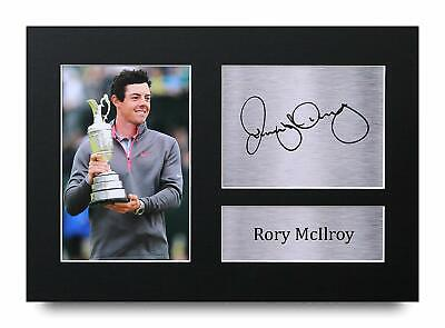 Rory McIlroy Signed Pre Printed Autograph Photo Gift For a Golf Fan