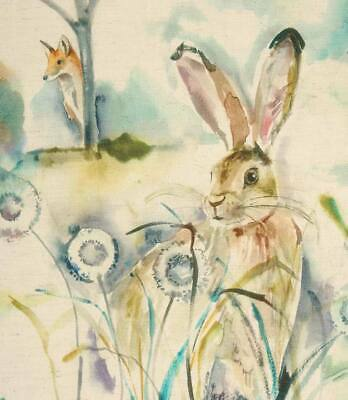 Voyage Maison Grassmere Sweetpea | Linen Watercolour Hare Bunny Rabbit Fabric
