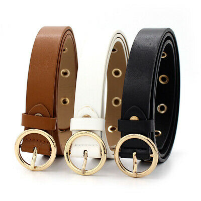 Metal Circle Lovely Punk All-Match Round Pin Buckle Fashion Belt Waistband