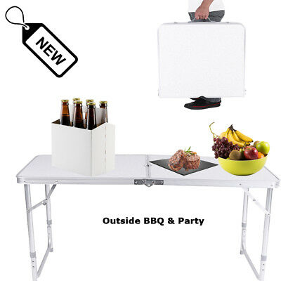 Portable 4ft Folding Table Trestle Camping Party Picnic BBQ Stall Graden Indoor