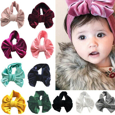 Cute Baby Toddler Kids Girls Bow Hairband Turban Knot Cotton Headband Headwear