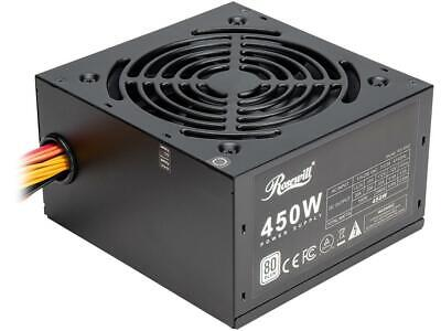 Rosewill RD 450Z 450W Power Supply, 80 PLUS Certified Active PFC Non-Modular Gam