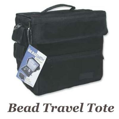 Beadsmith Bead Storage Traveller Tote Bag with Plastic Craft Organiser Boxes