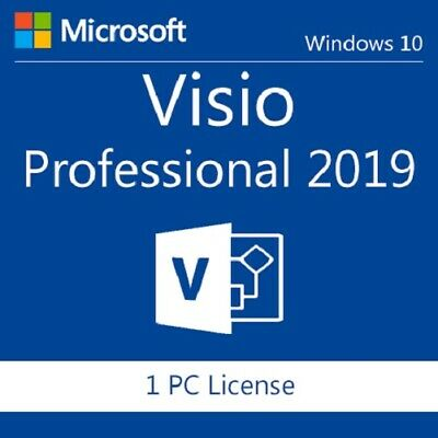 Microsoft VISIO 2019 Key Professional PRO 64bit Activation Product 1 PC Instant