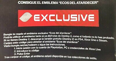 Destiny 2 Sunset Echoes Rare Emblem PS4/PC/XBOX (CODE) exclusive MGW (sameday)