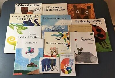 Lot of 14 Eric Carle-Leo Lionni Children Kids Learn to Read Mix Set Books Friend