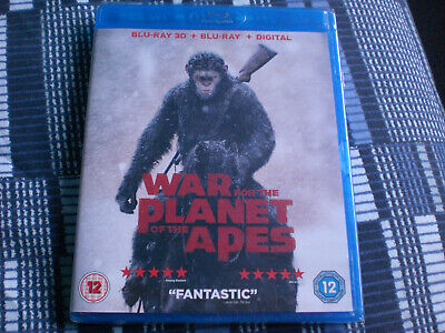 WAR FOR THE PLANET OF THE APES - Andy Serkis - Blu-Ray *NEW & SEALED*