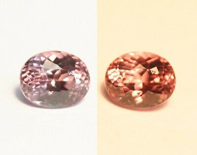 1.36ct Colour Change Pink Mahenge Garnet - Rare Custom Cut Oval