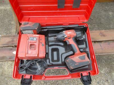 22V HILTI LI-ION IMPACT WRENCH WITH 2 x 3.3Ah BATTERIES & CHARGER IN CASE GWO