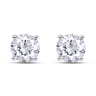 1/8Ct Round Real Diamond 14K Gold FriCtion Back Stud Earrings Valentine Gifts