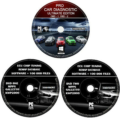 Car Diagnostic OBD 1-2 + ECU Car Chip Tuning 100 000 Files Mpps Kwp2000 Galetto