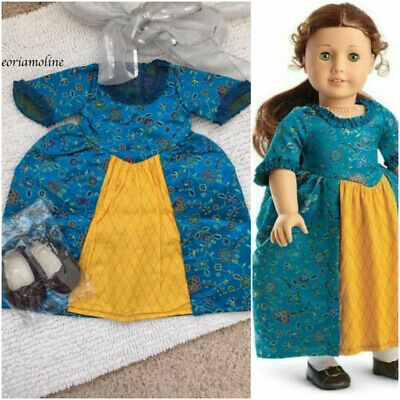 American Girl Doll Felicity  BeForever MEET GOWN/Dress SHOES~2 piece outfit~NEW