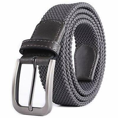 Weifert Belt For Men Braided Stretch Belt/No Holes Elastic Fabric Woven Belts At