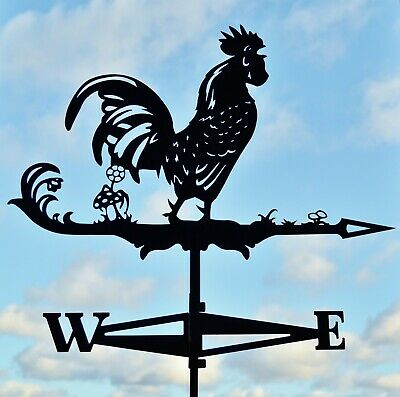 Rooster Chicken Metal Weathervane Roof Mount Wind Decor FREE SHIPPING