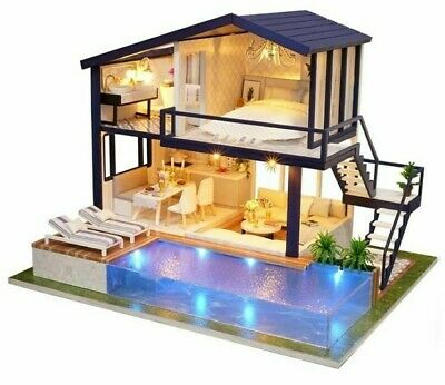 LOL SURPRISE DOLL HOUSE Made with REAL WOOD Furniture Diy House kids  xmas Gift