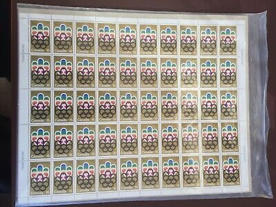 Canadian Stamp Sheet - 1976 15-Cent OLYMPIC GAMES Sheet of 50 Stamps(UT 624)