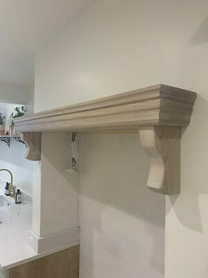 Fireplace Shelf with Corbels, Solid Oak Beam, Lintel, kitchen aga over cooker