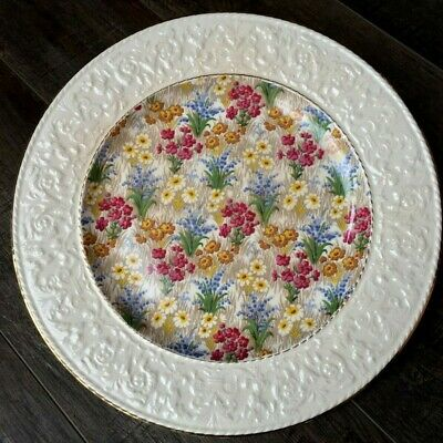 Royal Winton Grimwades MARGUERITE (GOLD TRIM) Dinner Plate With Wedgwood Border