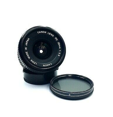 [ MINT] Canon NEW FD 28mm f2.8 NFD Wide Angle MF Lens Used in Japan Top Quality!