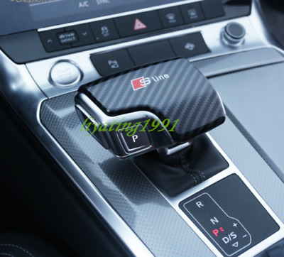 Carbon Fiber Gear Shift Knob Dashboard Cover Trim for AUDI A3 S3 Sline L10
