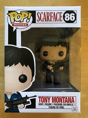 AUTHENTIC Funko POP! Movies Scarface Tony Montana #86 VAULTED W/ PROTECTOR CASE