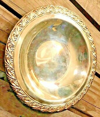 """Vintage Silver Plated Wm Rogers 748 Small Bowl / Candy Dish - 7.5"""" Diam"""