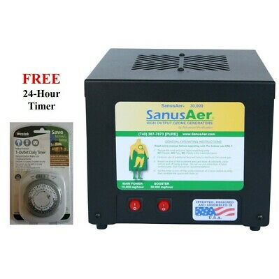 Ozone Generator Air Purifier Mold Allergen Smoke Odor SanusAer 30000