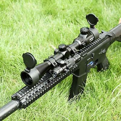 3-9X40mm Tactical Sniper with Green laser Kits & Flip-up Cover Rifle Scope