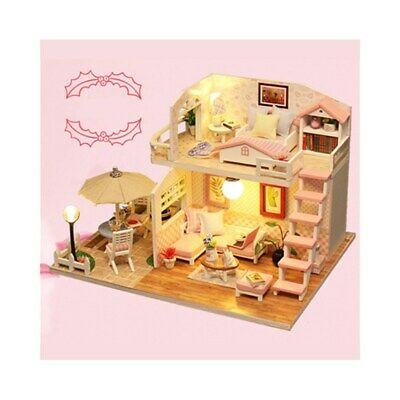 Girls Dream Wooden Pretend Play House Doll Dollhouse Toy 19*15*13cm