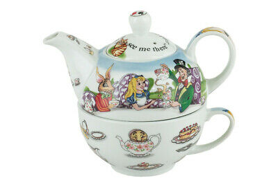Alice In Wonderland Tea For One - Teapot and Teacup Great Gift AWL016