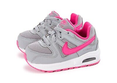 BABY GIRL: NIKE Air Max Command Flex Shoes, Pink & Gray