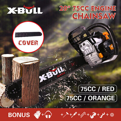 """【Only $96!】X-BULL 75CC Chainsaw Petrol Commercial  Pruning 20"""" Bar  E-Start"""