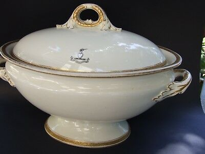ANTIQUE  ROYAL WORCESTER  VITREOUS LARGE TUREEN W LID  LONDON 1890's