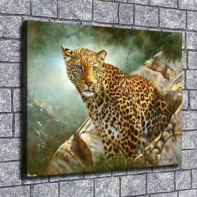 """12""""x16""""African Leopard Paintings HD Print on Canvas Home Decor Wall Art Pictures"""