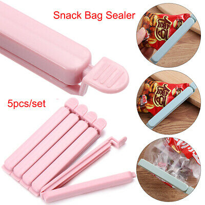 5Pcs Bag Clips Household Snack Fresh Food Storage Clips Kitchen Accessories