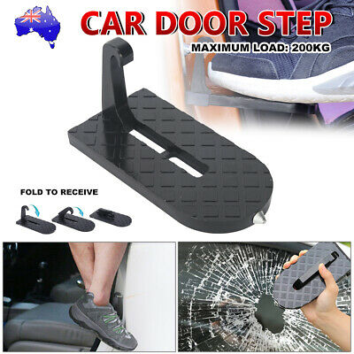 Folding Car Door Latch Hook Step Foot Pedal Ladder for Jeep SUV Truck Roof AU