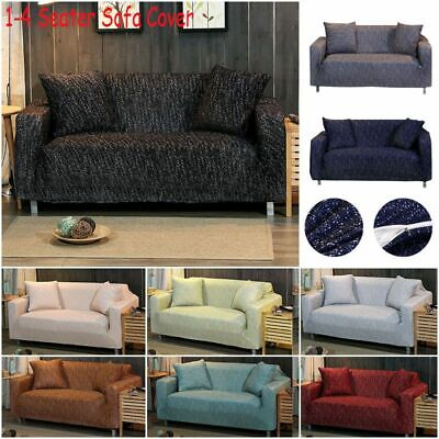 NEW 1-4 Sofa Covers Couch Slipcover Stretch Elastic Fabric Settee Protector Fit