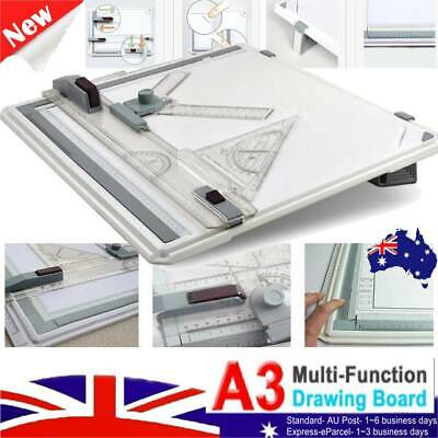 A3 Drawing Board Portable Drafting Kits Head Tilters Set Square Table Adjustable