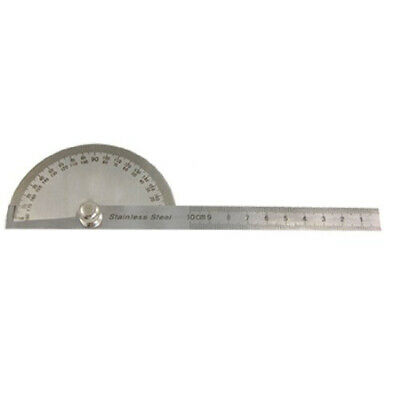 Rotating 180 Degree Measure Protractors Metric Ruler E9O7