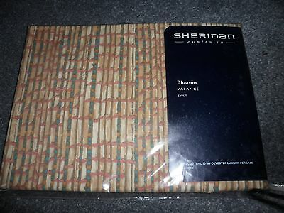 Sheridan blouson valance 250cm cotton blend brown and blue