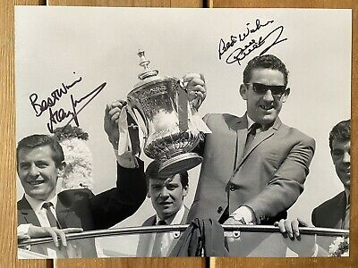 Dave Mackay & Alan Mullery Tottenham Hotspurs / Spurs Signed 16x12 Photo PROOF