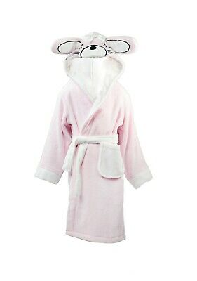 Varsani Clothing Kids Girls Snuggle Pink Bunny Fleece Hooded Dressing Gowns Robe
