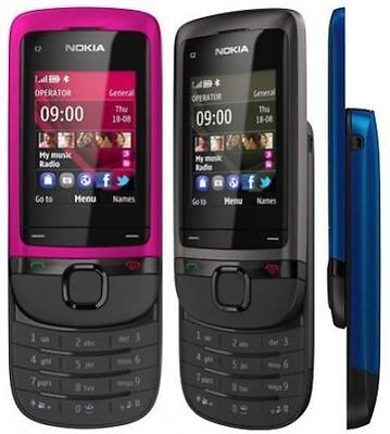 NOKIA C2-05 (Unlocked) GSM Cheap Mobile Phone Slide Touch &Type Phone XMAS GIFT