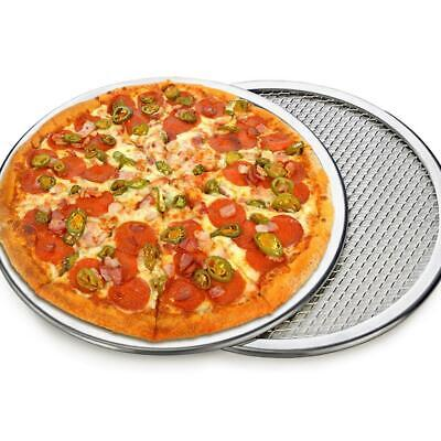 Aluminum Alloy Pizza Screen Mesh Tray Kitchen Seamless Oven Baking Pan Tool CF2C
