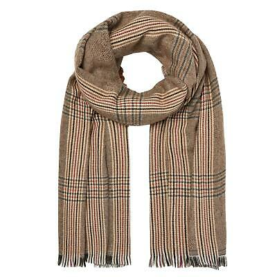 Joules Fearne Scarf Womens Checkered Supersoft Large Tassled Cold Weather Wrap