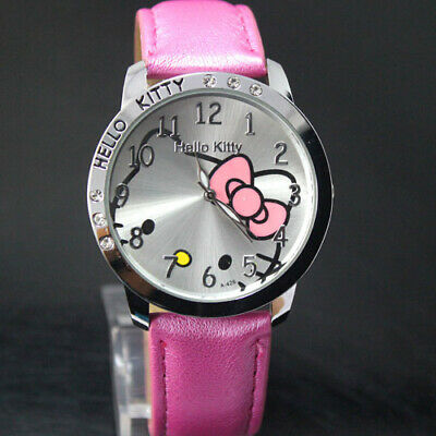 Girls Hello Kitty Cartoon Fashion Wrist Watch Children Kids Watch Christmas Gift