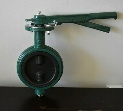 """VITON 4"""" Butterfly Valve Wafer with rubber lining"""