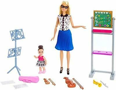 Barbie FXP18 Music Teacher Doll, Blonde and Playset with Flipping Chalkboard, St