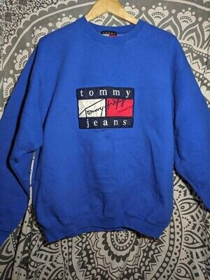 Vintage Tommy Hilfiger sweater Big Logo Spell Out Signature Mens XL